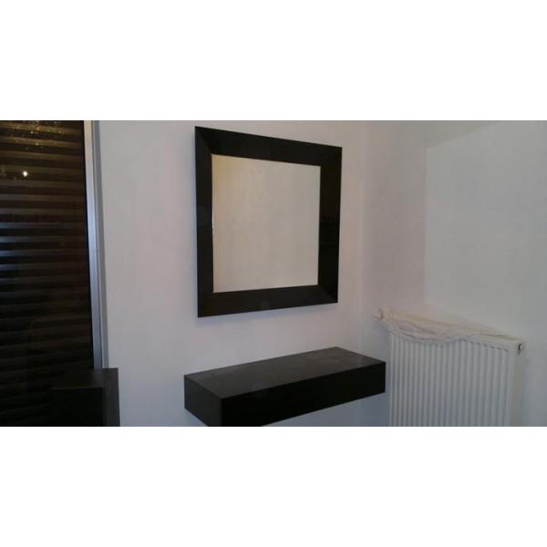 Καθρέπτης με γυάλινη μαύρη κορνίζα 01 Καθρέπτες tzamia-korobokis.gr